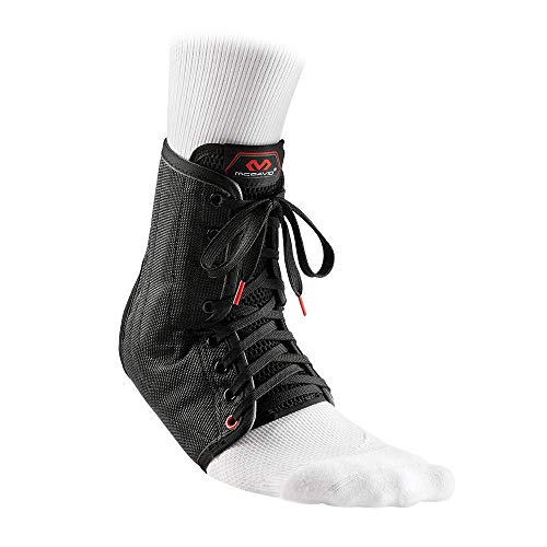 McDavid Lightweight Laced Ankle Brace , Black, medium