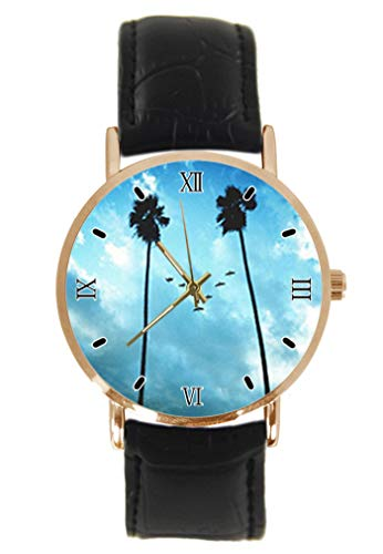Reloj de Pulsera con diseño de pájaros y árbol, Esfera Sonriente, clásico,...
