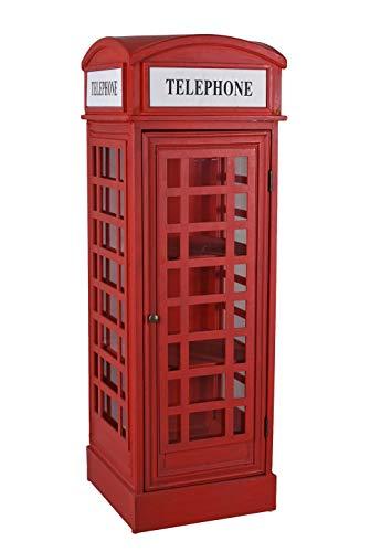Retro Vitrine Englische Telefonzelle Rot Vitrinenschrank Standvitrine Schrank mxa091 Palazzo Exklusiv