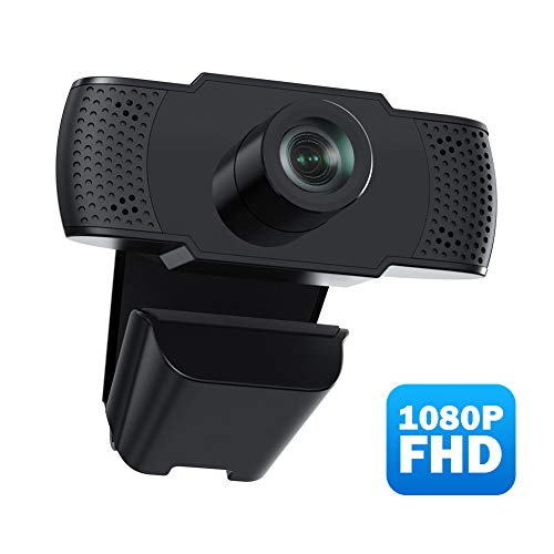 usogood Webcam, Full-HD 1080P USB-Anschluss Webkamera Eingebautes Mikrofon Clip-On , Für Skype, FaceTime, Hangouts, etc, PC/Mac/ChromeOS/Android