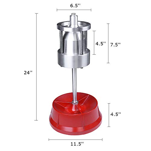 VI-CO Portable Bubble Wheel Balancer, Static Balancing Machine Tire Balancer Changer Ideal for Automobiles and Light Trucks, 1-1/2 in. to 4 in. Diameter