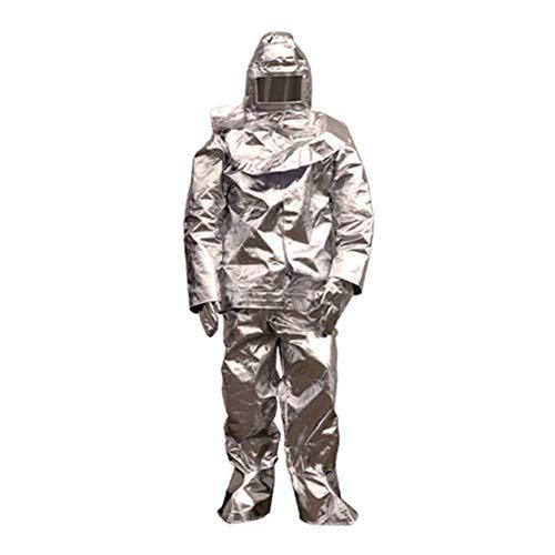 Heatile Aluminiumfolie Arbeitskleidung Schwer entflammbar Hohe Temperaturbeständigkeit Brandschutz Für den Ganzkörperschutz an Orten mit starker Wärmestrahlung (500℃/1000℃),500℃