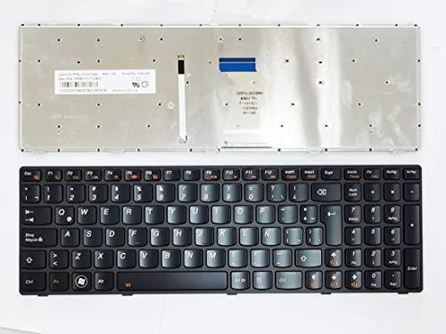 HuiHan Reemplazo para Lenovo Ideapad Y580 Y580A Y580N Y590 Y590N LA teclado de diseño latino con retroiluminación 25203441