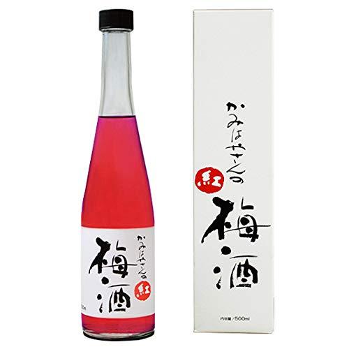 かみはやさんの紅梅酒 500ml (岡畑農園の完熟梅100%梅酒)