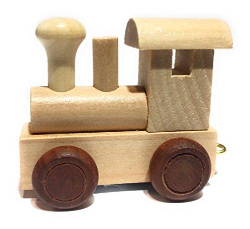 Buchstabenzug | Wunschname zusammenstellen | Holzeisenbahn | EbyReo® Namenszug aus Holz | personalisierbar | auch als Geschenk Set (Lokomotive)