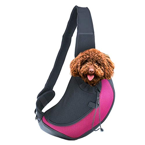 Zento Deals Pet Carrier Mesh Sling Bag - Premium Quality Adjustable Breathable Hands-Free Sling Bag, Stylish Design, Perfect for Travelers with Small Dogs and Cats Review
