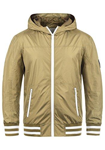 Blend Novan Herren Übergangsjacke Herrenjacke Jacke mit Kapuze, Größe:M, Farbe:Safari Brown (75115)