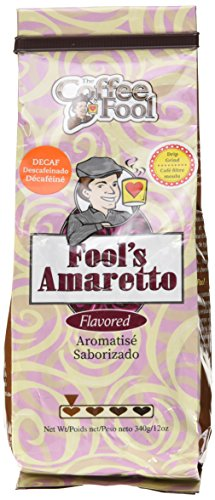 The Coffee Fool Drip Grind, Fool's Decaf Amaretto, 12 Ounce
