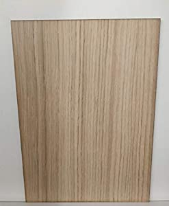 LaserKris - Tablero de madera DM de roble con canteado láser tamaño A4; lámina de madera vertical, para manualidades y grabado con láser
