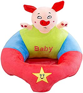 Baby Support Seat NBWS Sofa Plush Soft Animal Shaped Baby Learning Sit Chair Children s Plush Toy Gift-A