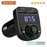Smashtronics Bluetooth - FM Transmitter in-Car Radio Adapter for Hands-Free Calling, Music Streaming