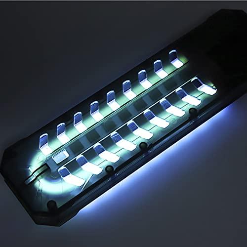 Hebrew Luz para pecera de Cristal de Cuarzo con Cable de 2,1 m para Matar Algas, lámpara esterilizadora, compacta para pecera de Acuario(#4)
