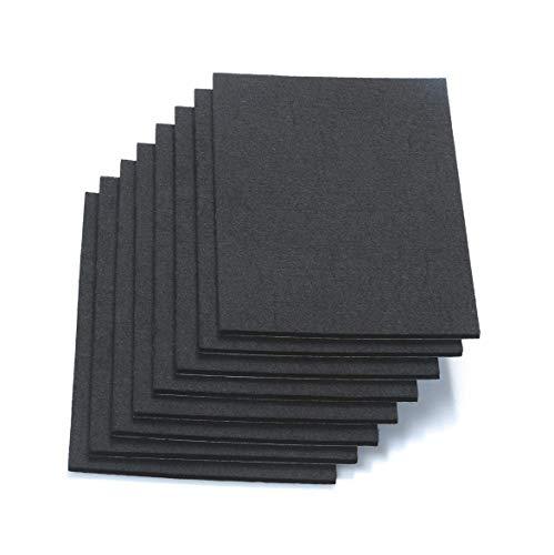 RERIVER 6' X 8' X 1/5' Thick Heavy Duty Felt Sheets - 8 Sheets (Black)