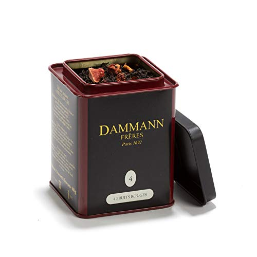 Pasticceria Passerini dal 1919 Dammann 4 Fruits Rouges - Té Negro con Frutos Rojos, Lata de 100 gr - Dammann Frères