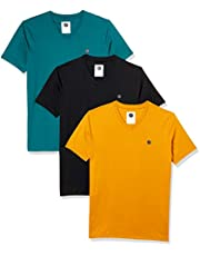 Amazon Brand - Symbol Men's Solid Regular Fit Half Sleeve Cotton T-Shirt (Combo Pack of 3) (AW17PLPO3V4_XL_Multicolor4)