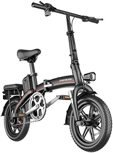 Bici electrica, Bicicletas eléctricas rápidas for adultos portátil fácil de almacenar, 14' bicicleta eléctrica / conmuta Ebike con la conversión de frecuencia de alta velocidad del motor, la batería d