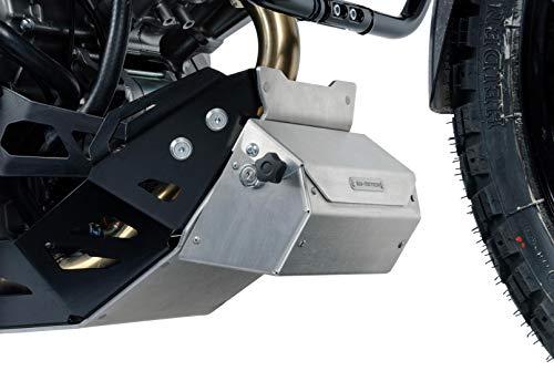 SW-MOTECH WZX.00.014.10001/S Werkzeugbox für Motorschutz, Abschließbar Silbern
