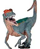 gemini&genius Jurassic Dinosaur Action Figure Toys Green Science Educational Realistic Design Dinosaur Gift for Kids & Classroom Prize Supplies (Dilophosaurus)