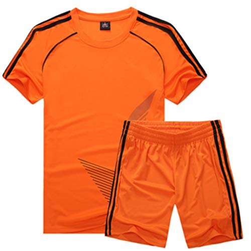 Inlefen Voetbal uniform Pak Kind Korte mouw Jersey en shorts Jongens Meisjes Trainingskleding