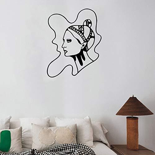 42x53 cm Kreative Jugendstil Femme Vinyl Wandaufkleber Mode Dekoration Zubehör Vinyl Modernes...
