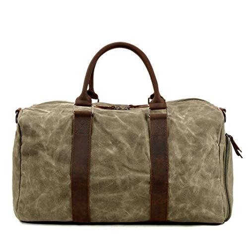 Sporttas van zeildoek, draagbaar, 1-schouderscheiding, nat en droog, grote capaciteit, met tas voor schoenen.