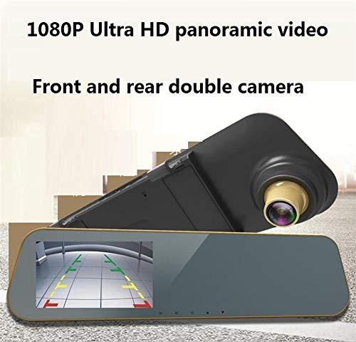 Opnameapparaat rijdt auto recorder 4,3 inch HD-groot scherm voor en achter dual camera 1080p HD autocamera parkeermonitor max. Ondersteuning 32 G geheugen 170 ° groothoek videorecorder fietsen Vide