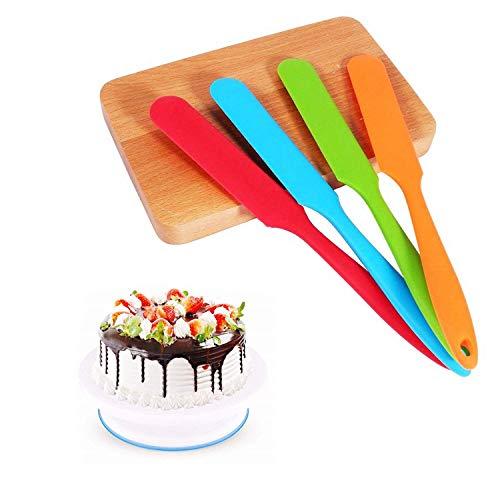 Cake Silicone Scraper Spatula Non-Stick Heat Resistant Rubber Butter Spoon Set