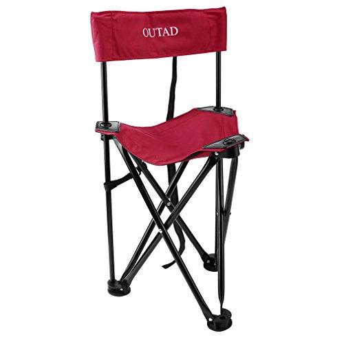 Outad Campingstuhl, zusammenklappbar, rot