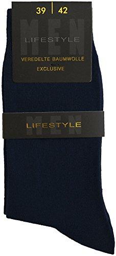 Esda - Herren Business Socke Lifestyle marine 3er Pack (Anzug-Socke) 39/42