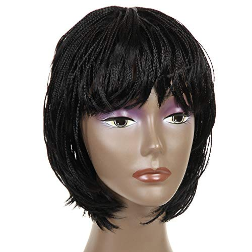 Synthetic Small Box Braid Wigs African American Bob Braided Wigs for Black Women 12' (#2)