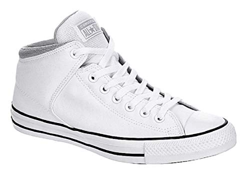 Converse Men#039s Street Canvas Mid Top Sneakers White/Wolf Grey/White Canvas/Fabric 115 US