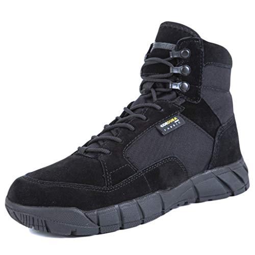 Wygwlg Botas tácticas del ejército Militar de los Hombres Impermeables Deportes al Aire Libre Senderismo Trabajo de Combate Cordones Transpirables Zapatos de Desierto Altos Superiores