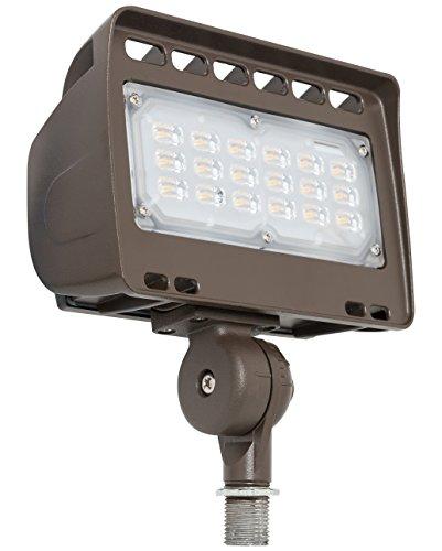 Westgate Outdoor LED Flood Light Knuckle Mount - Security Floodlight Fixture for Outdoor Area Yard Landscape - Safety Lights - UL Listed (30 Watt 5000K Cool White)