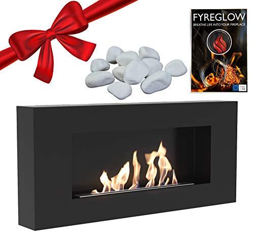 Fyreglow Glow Flame Accessori Bio-ethanol haard voor wandmontage, 1 g, ecologische stenen 1 kg - pakket
