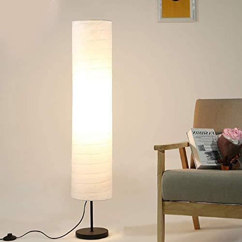 LXHLDD Lámpara de pie de Papel de arroz, luz de Suelo de 45,6 Pulgadas de Altura, 1 tomacorriente, Larga Vida útil