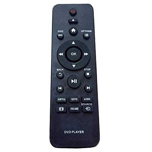 New Remote Control Replacement Fit for Philips DVD Player DVP3005/78 DVP2880/55 DVP3864K DVP3868G DVP3850G DVP3850K DVP3850KX/77 DVP3852K RC-5721 DVP3670K Disc DVD Player
