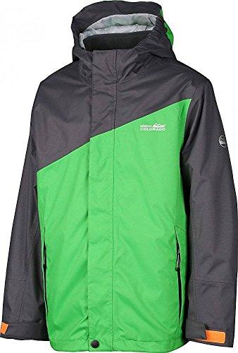 High Colorado Jungen 2in1 Jacke Doppeljacke Outdoorjacke Calgary Boy grün-anthrazit, Größe:128