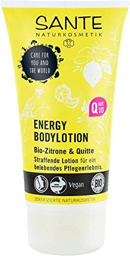 SANTE Naturkosmetik Energy Bodylotion, Zitrisch-frischer Duft, Strafft mit Q10, Zieht schnell ein, Samtweiche Haut, Vegan, 2x150ml Doppelpack