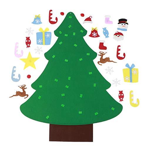 Toasses DIY Felt Christmas Tree Set Wall Hanging Decoration Child New Year Xmas Gift Christmas Decoration