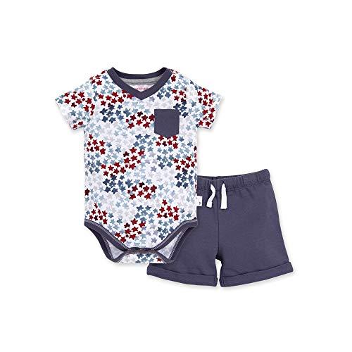 Burt's Bees Baby Baby Bodysuit & Pant Set, 100% Organic Cotton, Starry Night & Shorts, 3-6 Months