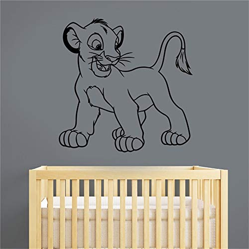 Simba Wall Decal Roi Lion Autocollant Art Maison Enfants Bébé Garçons Filles Chambre Nursery Playroom Cartoon Décor