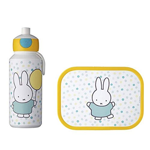 Mepal - Campus Set Brotdose + Trinkflasche Pop-Up (Miffy Confetti)