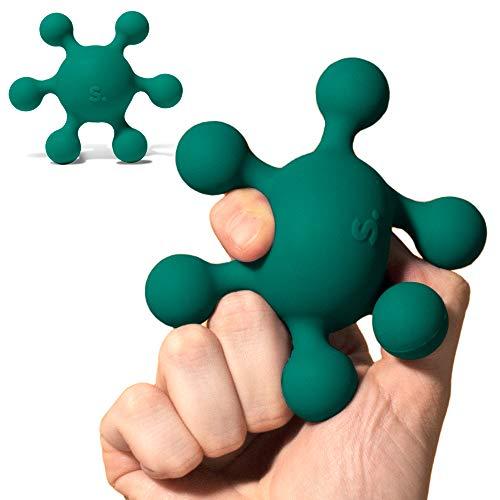 Speks Blots Silicone Stress Ball - Silky Soft, Ergonomic 100% Silicone Desk Toy - Green Splotch