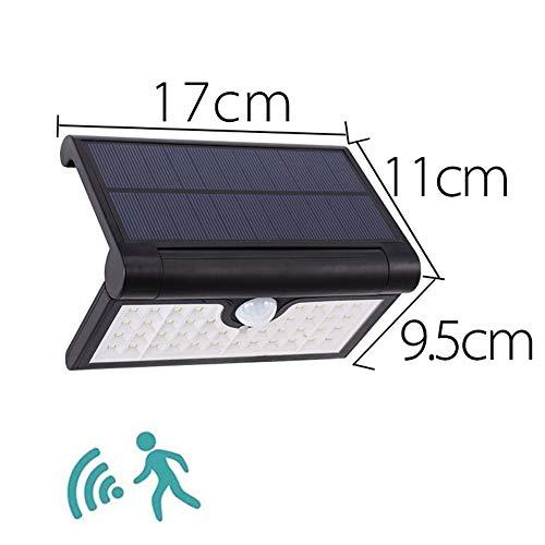H-XH Solar bewegingssensor, buitenspot met 14/42/58 leds, buitenverlichting, waterdicht, draadloze wandlampen met 3 intelligente modi voor tuinverlichting