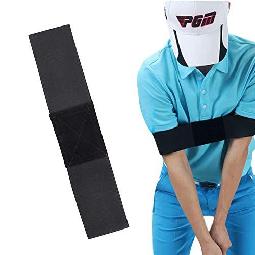 YUIP 2 Stück Golf Schwungtrainer für die Arme, Golf Training Aid Haltungskorrekturgürtel, Golf Swing Trainer Aid Grip, Übungsausrichtungsprofi für Golfanfänger Männer Frauen Kinder