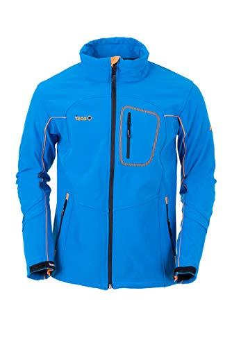 IZAS EUME Veste Softshell Homme, Royal/Orange, FR : 2XL (Taille Fabricant : XXL)