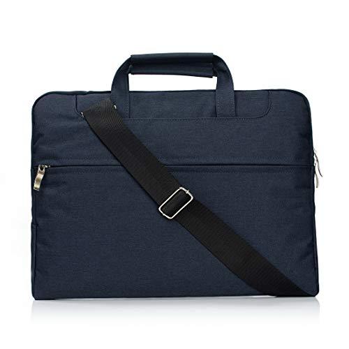 Borse per Notebook e Accessori Portatile Una Spalla Zipper Portatile Laptop Bag, Il 15,4 Pollici e sotto MacBook, Samsung, Lenovo, Sony, dell Alienware, CHUWI, ASUS, HP (Nero) Ctj