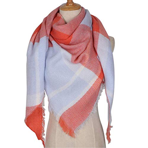 HUAHUA bufandas Caliente del otoño y del invierno bufandas, Pañuelo-mantón de la bufanda del babero del mantón Capa de tela escocesa de la bufanda femenina imitación de la cachemira bufanda del triáng