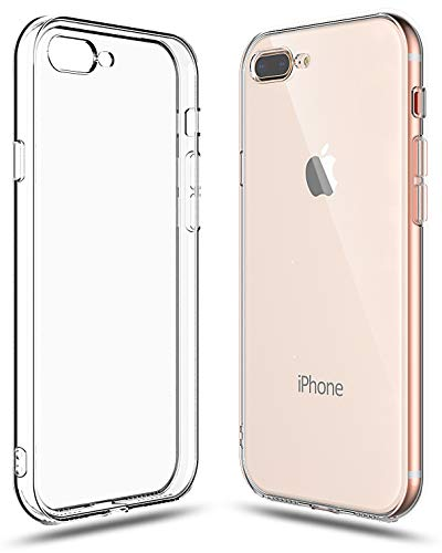 Shamo's Case Compatible with iPhone 8 Plus and iPhone 7 Plus Transparent Shock Absorption TPU Rubber Gel Soft - Clear