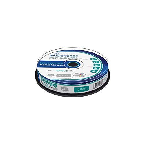 MediaRange DVD+R Double Layer 8.5Gb|240Min 8-fache Schreibgeschwindigkeit, vollflächig bedruckbar, 10er Cakebox